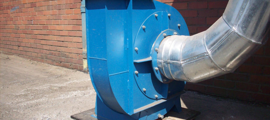 A centrifugal fan used in one of our Cartridge Dust Collectors by ACS Air Cleaning Systems, Johannesburg, Gauteng, South Africa