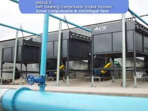 Self cleaning intake system, screw compressors & sentrifugal fansbuild by ACS Air Cleaning Systems, Johannesburg, Gauteng, South Africa