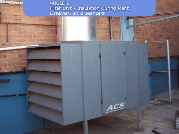 filter unit of fan filter unit at an insulation curing plant by ACS Air Cleaning Systems, Johannesburg, Gauteng, South Africa