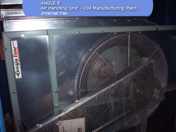 Internal fan of the air handling unit of fan filter unit at a coil manufacturing plant by ACS Air Cleaning Systems, Johannesburg, Gauteng, South Africa